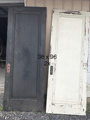 "36""x 96""h Vintage 2 Wooden Doors Mansion Salvaged"