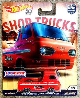 Hot Wheels Car Culture Shop Trucks Stevie Caballero 60 Econoline Pickup In Stock