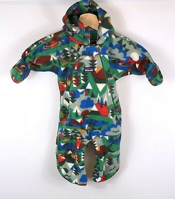 Baby Patagonia Bunting Fleece Flip Cuff suit Size 3 Months Infants