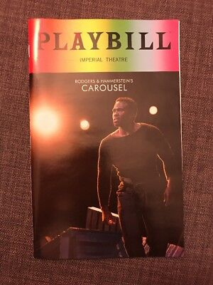 Broadway Musical Carousel June 2018 Pride Playbill Imperial Theatre NYC Rare