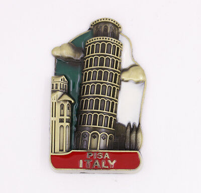 Leaning Tower of Pisa Italy Fridge Magnet Bronze Metal Souvenir Gift New