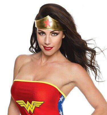eb9dfd0b1ca6 Wonder Woman Gold Fabric Tiara Women's DC Comics Red Star Costume Accessory