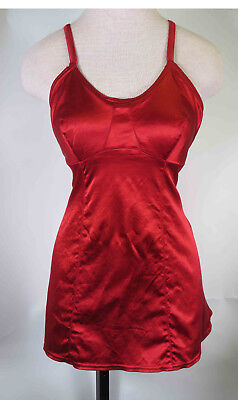 Vintage 1930s Lastex Rayon Satin One Piece Dark Deep Red Bathing Suit Unworn  M