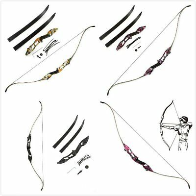 Adult Recurve Bow 30/35/40/45/50LBS JUNXING F179 Archery Alloy Hunting Bows Sets