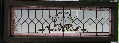 ~ Antique Stained Glass Transom Window ~ 44 X 16 ~ Architectural Salvage ~