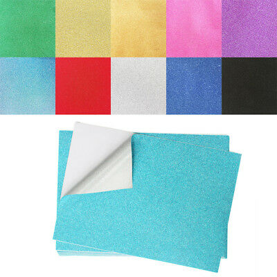 10/20/50X A4 Glitter Cardstock Craft Paper Card Scrapbooking Making Mix Color KU