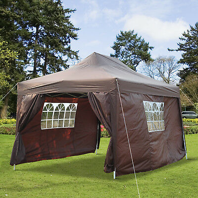 Outsunny 10x15ft Marquee Pavilion Pop up Party Tent Portable Backyard Coffee