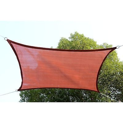13' x 20' Canopy Sun Sail Shade Garden Cover UV Protector Rectangle Rust Red