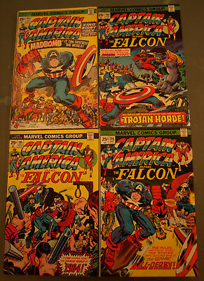 Captain America (1976) Lot of 4 Issues - 193, 194, 195 & 196 - VG - Jack Kirby!