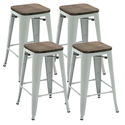 Outstanding Set Of 4 Metal Bar Stool 26 Retro Style Bar Chair With Unemploymentrelief Wooden Chair Designs For Living Room Unemploymentrelieforg