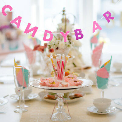 Candy Bar Letters Felt Bunting Banner Wedding Engagement Party Decorations