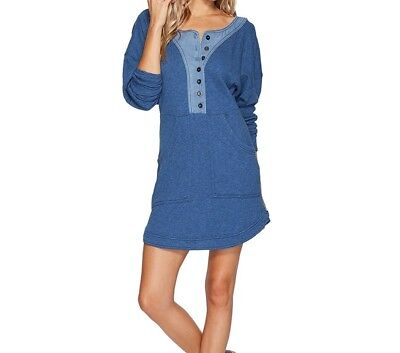 950d823f276b19 Free People NEW Blue Womens Size Small S Button-Front Shift Dress  128 805