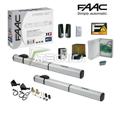 KIT gate door swing hydraulic FAAC HYBRID KIT 24V 105683 2mt for panel