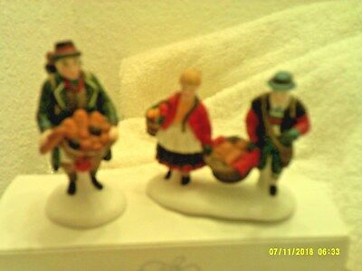 Dept 56 Village Accessory - Buying Bakers Bread  Mib