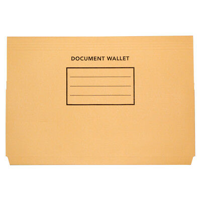 4 x Olympic Foolscap Board Document Wallet Buff misc