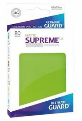 Ultimate Guard Standard Sleeves Supreme UX - Matte Light Green (80) MINT