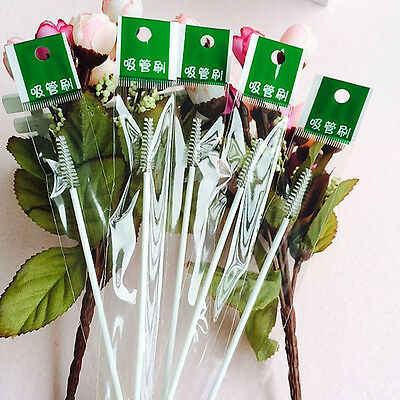 6/10Pcs Nylon Brush Cleaner for Baby Bottle Sippy Cup Drinking Straw Clean.UK