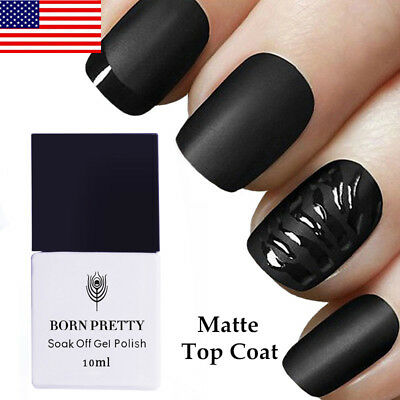 BORN PRETTY 10ml No-Wipe Matte Top Coat Nail UV Gel Polish Nail Art Soak Off US