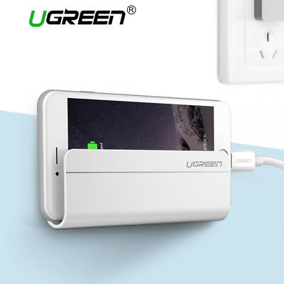 Ugreen Universal Wall Mounted Phone Holder Charging Stand for iPhone 8 X Samsung