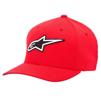 Alpinestars Corporate Red Motorcycle Motorbike Curved Cotton Hat | All Sizes