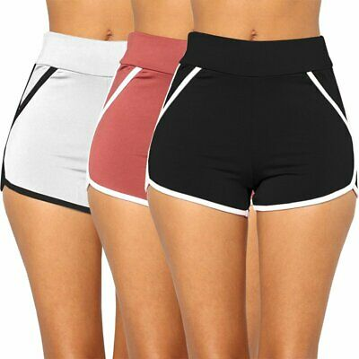 Women Casual Running Sport Shorts Yoga Gym Jogging Waistband Summer Hot Pants KU