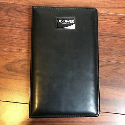 Black Guest Check Presenter Ticket Book Bill & Credit Card Holder Restaurant