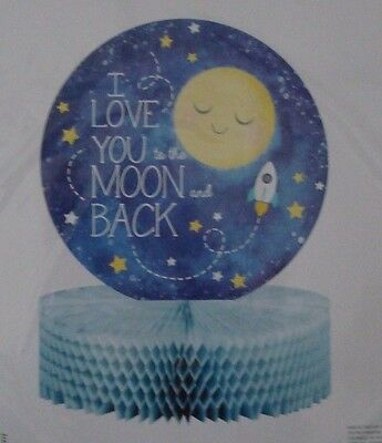 I Love You To The Moon and Back Baby Shower or Birthday Centerpiece; Twinkle Twi