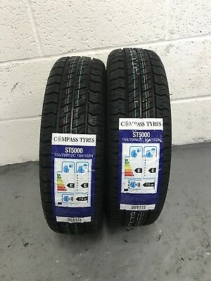 2 x 155/70 R12C Compass ST5000 104/102N 155 70 12 Trailer (1557012) - TWO TYRES