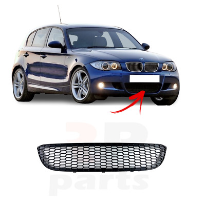 For Bmw 1 Series 2004 - 2013 M-Sport New Front Bumper Center Lower Grille
