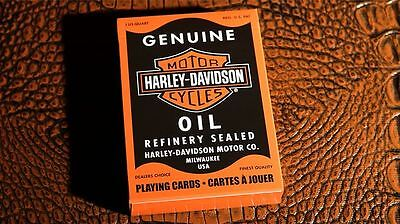 Harley Davidson Oil Playing Cards By USPCC | Collectable Playing Cards