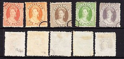 L3 Qld SPECIMENS Scarce small ring cancels to 1/-