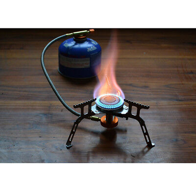 3500W Portable Gas Stove Butane Propane Burner Fit Outdoor Camping Hiking Picnic