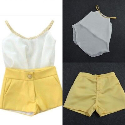 UK Chiffon Stock Baby Kids Girls Sun Tops Summer Outfits Striped Dresses Clothes