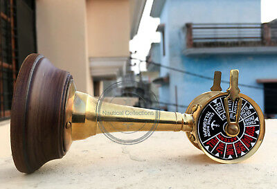 "Brass 6"" Ship Working Ring Bell Telegraph Engine Room Order Nautical Decor Gift"