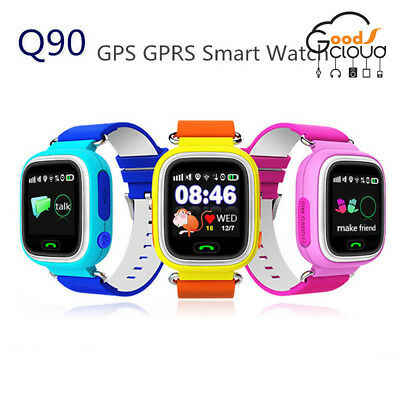 2018 Q90 Android ios GPRS GPS Kid Baby Smart Watch Wristwatch SOS Touch screen