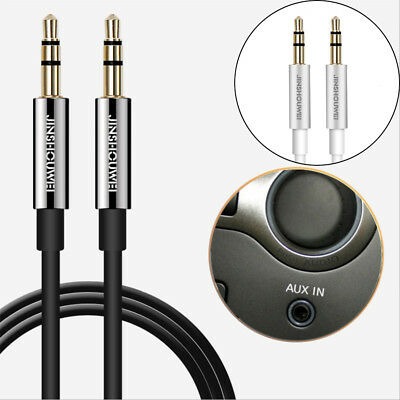 NEW Stereo Audio Aux Cable-3.5mm Jack Male to Male Gold Plated Plug- 0.5M/1M/2M