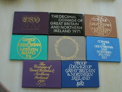 1970 - 1982 Proof Sets - Choose Your Date - Uk Post Free