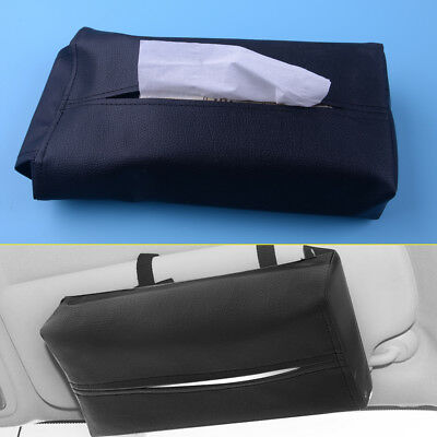 PU Leather Tissue Box Cover Pumping Paper Car Home Napkin Container Holder Case