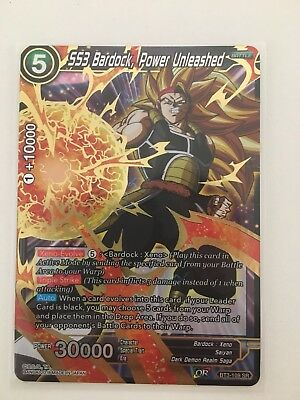 Ss3 Bardock, Power Unleashed Dragon Ball Super Trading Card Foil