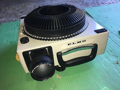ELMO Omnigraphic 253E Slide Projector And Reels - TESTED