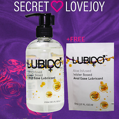 Lubido 250ml Anal Lubricant Sex Aid and Free 12ml Lubido anal lube