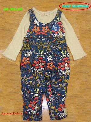 Bnwt Next Baby Girls' Floral Dungarees Set Various Size