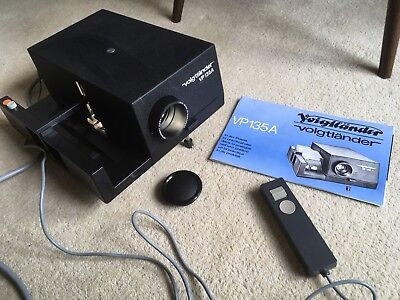 Voigtlander Vp135A Slide Projector With Wired Remote And Manual In Original Box