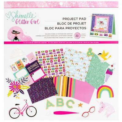 NEW American Crafts Shimelle Glitter Girl Paper Pad Kit By Spotlight