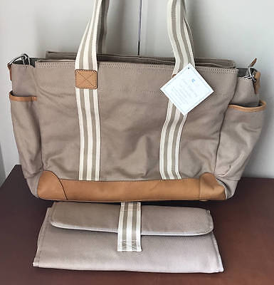 Pottery Barn Kids / Baby Classic Mom Diaper Bag~Khaki~No Monogram
