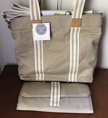 Pottery Barn Kids / Baby Classic Mom Diaper Tote~Natural~No Monogram
