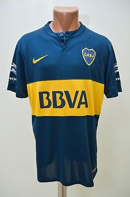 Boca Juniors Argentina 2014/2015 Home Football Shirt Jersey Maglia Nike L Adult