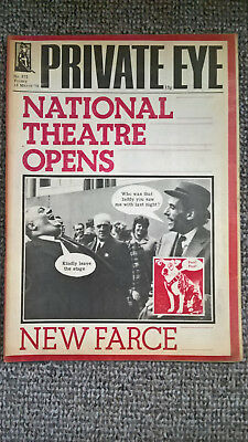 """PRIVATE EYE 19 March 1976 No 372 """"NATIONAL THEATRE OPENS - NEW FARCE"""""""