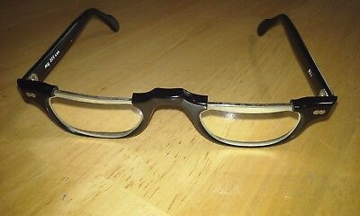 MAY antique grandfather reading glasses 2.25 / heavy duty hinges / 40's-60's ??