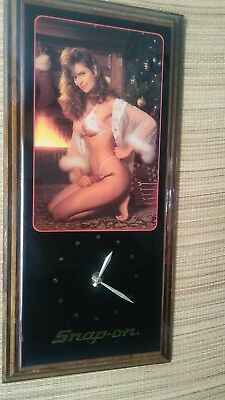 Vintage Snap On Tools Clock December Christmas fireside calender model works!